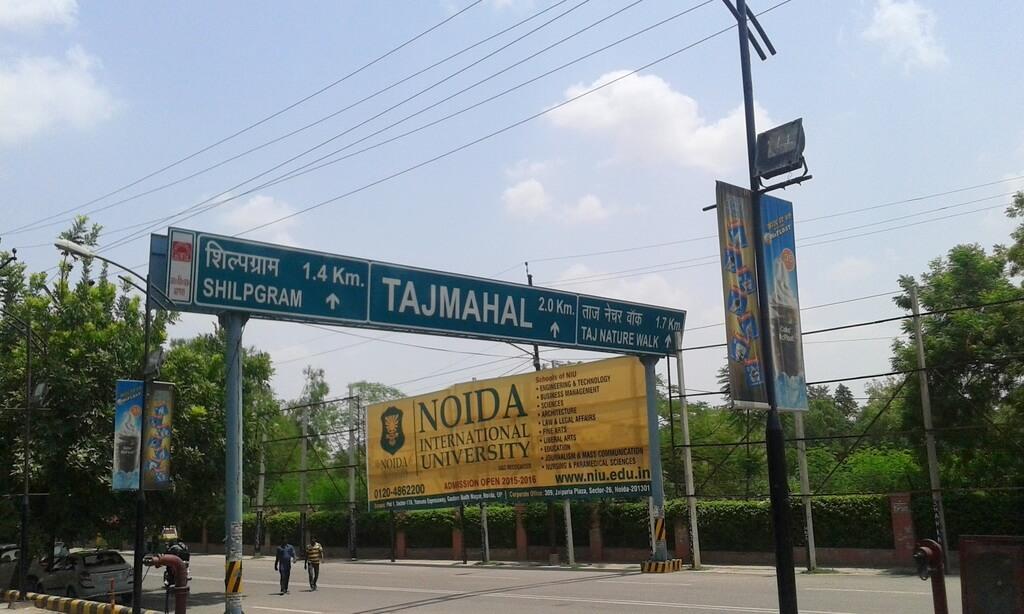 Indicaciones en Agra para llegar al Taj Mahal