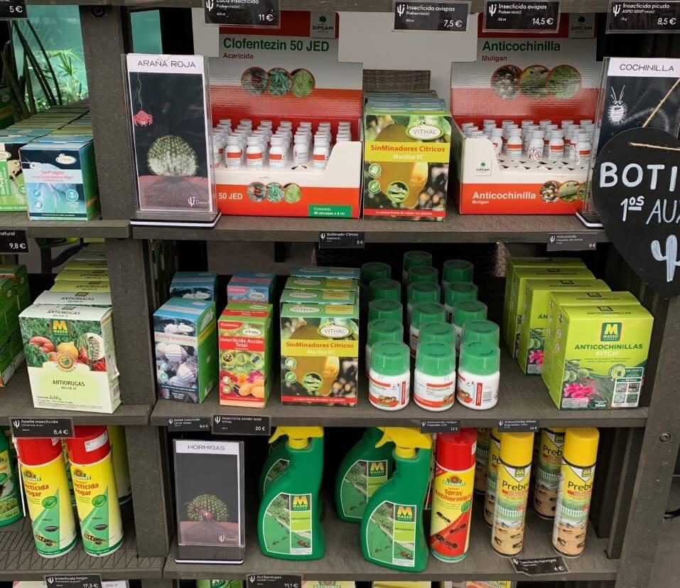 Productos para el cuidado de cactus