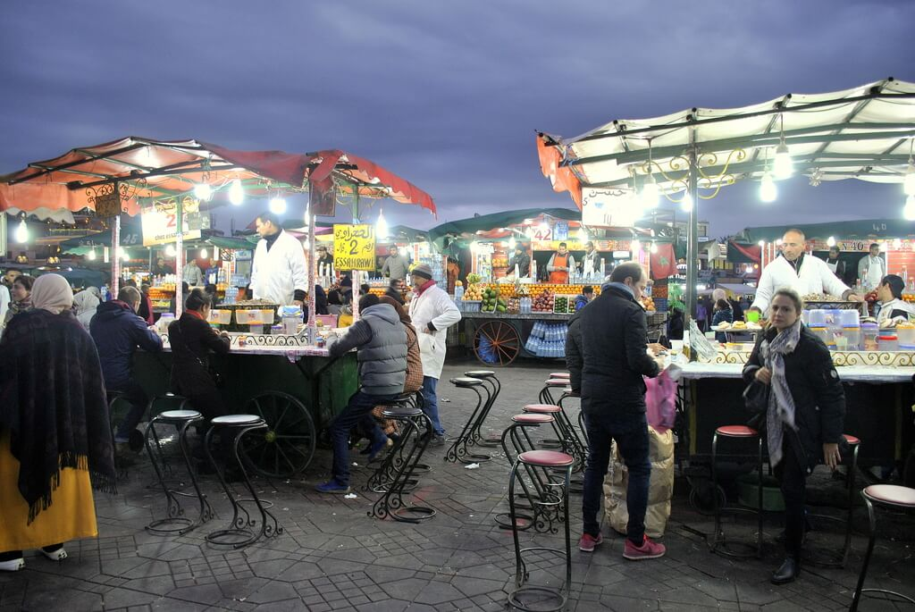 Plaza Jemma el Fna de noche