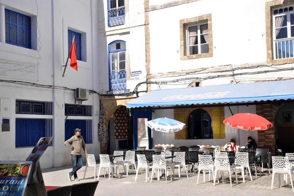 Rincones blancos en Essaouira