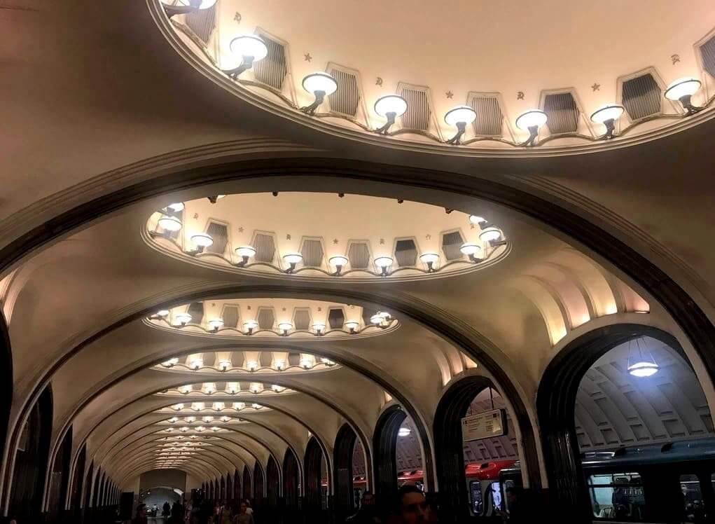 estaciones más bonitas del metro de Moscú
