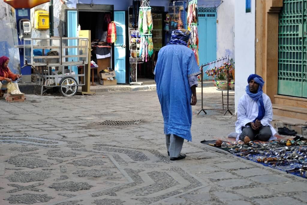 Vendedores ambulantes en Plaza Outa El-Hamman