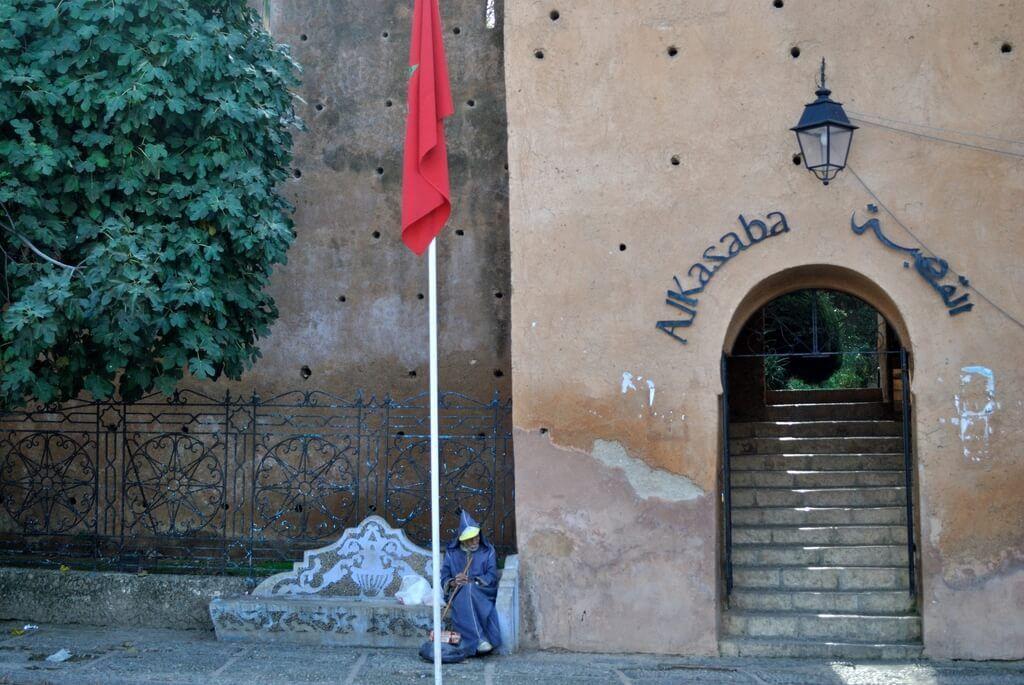 Puerta de entrada a la Alcazaba de Chefchaouen