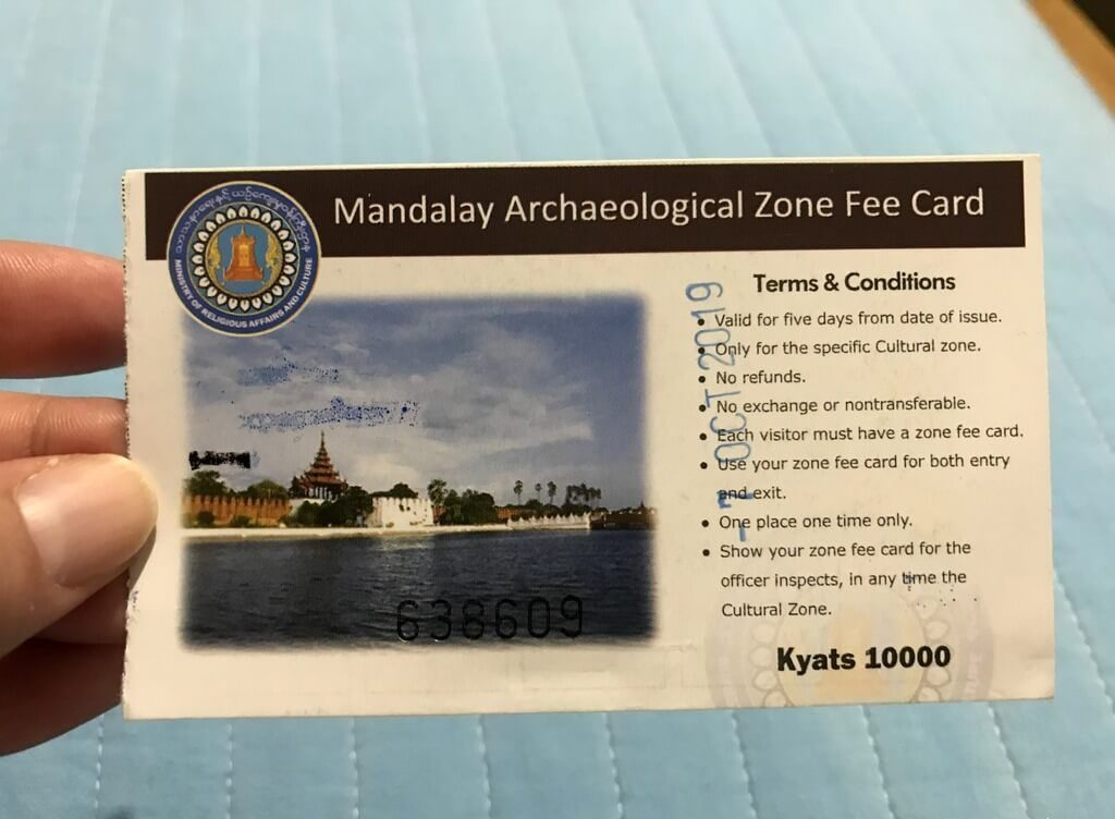 Mandalay Zone Ticket