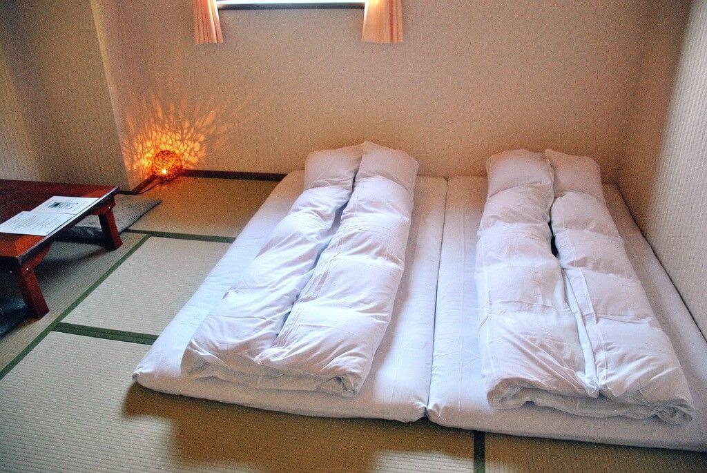 Futones en el Hotel Sakuraya