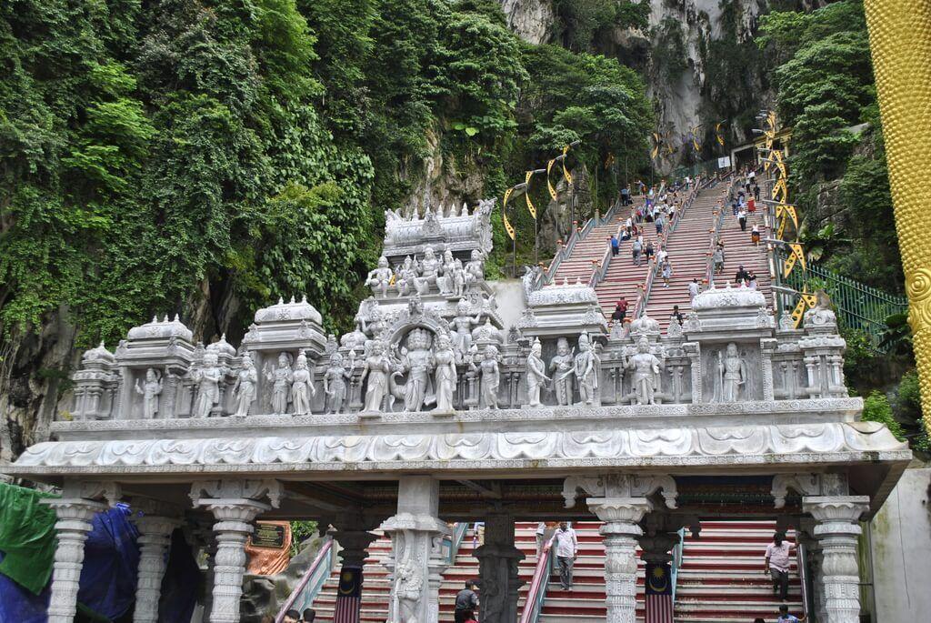 Escaleras de acceso a las Batu Caves
