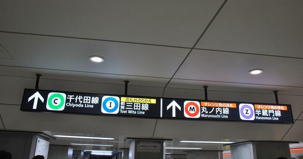 Mita Line (red Toei) y líneas de metro