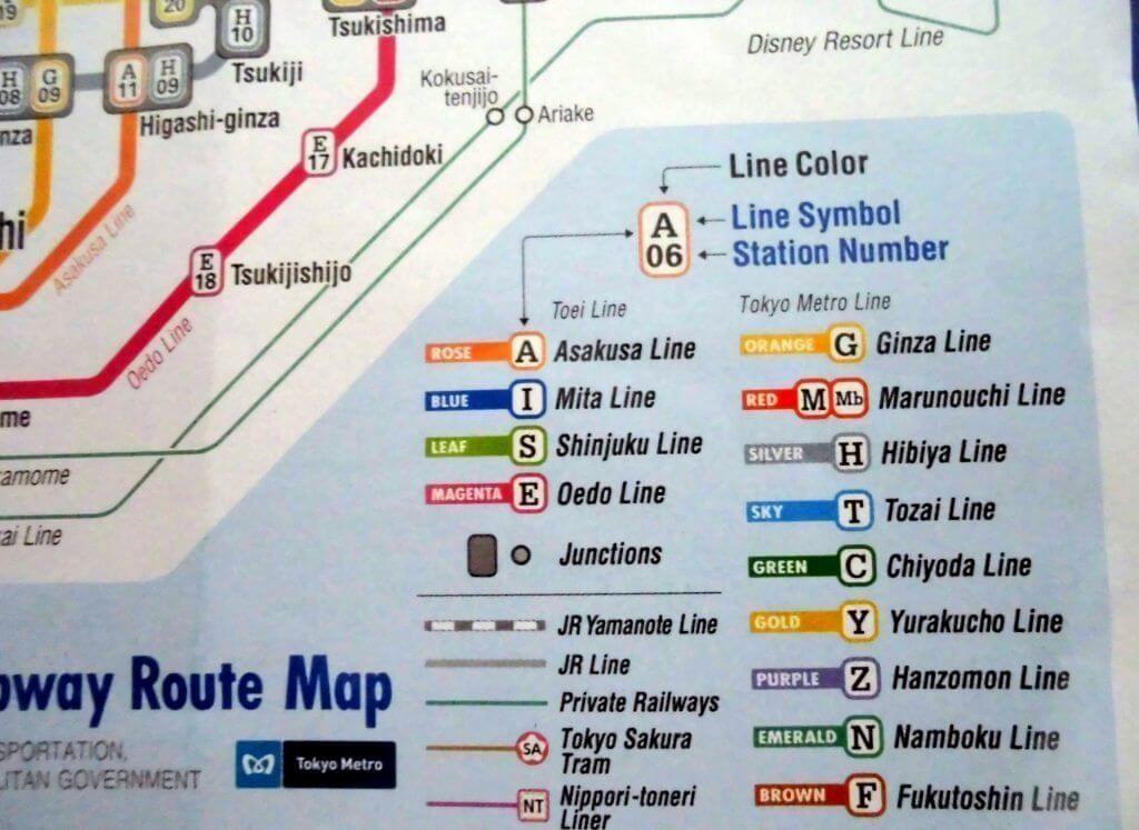 Las tres compañías de ferrocarril de Tokio: JR, Línea TOEI y Metro