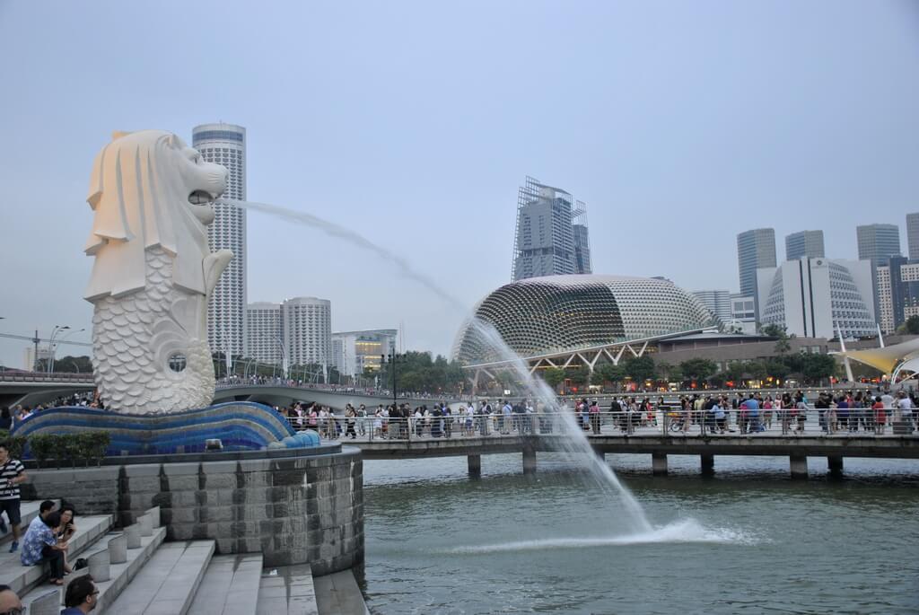 Estatura del merlión, Singapur