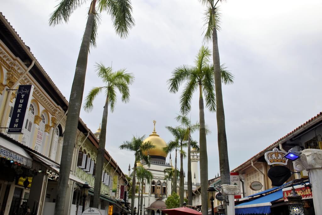 Arab Street. Al fondo la Mezquita del Sultán
