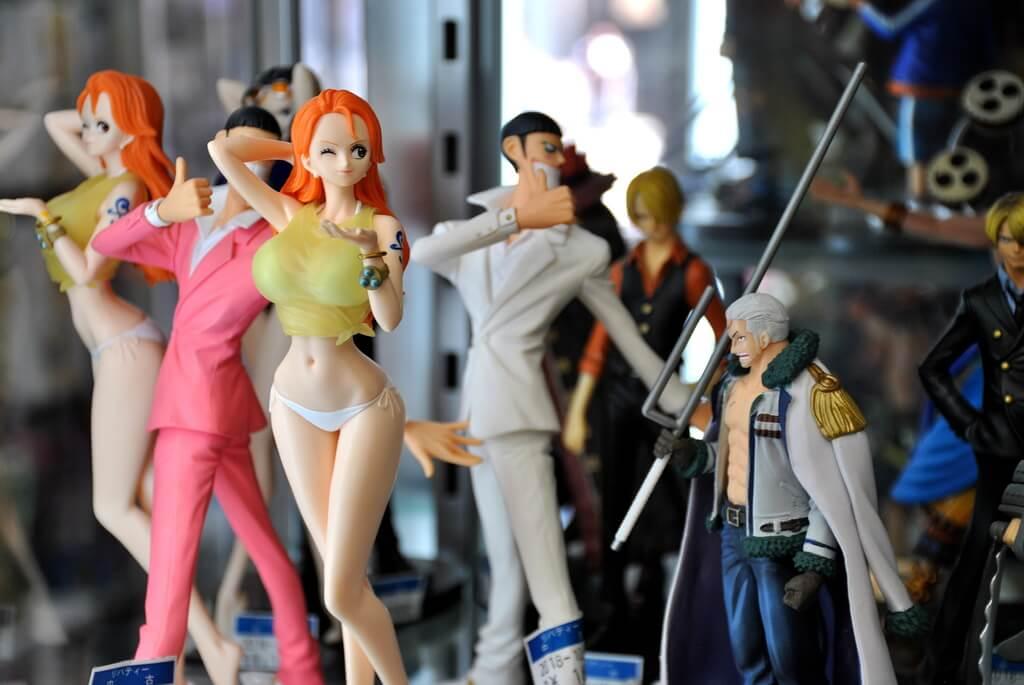 Figuras manga en Tokio