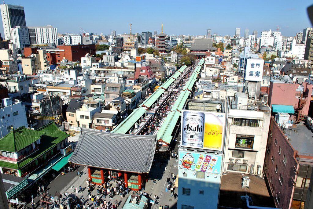 Nakamise Dori desde el Centro de Información turística de Asakusa