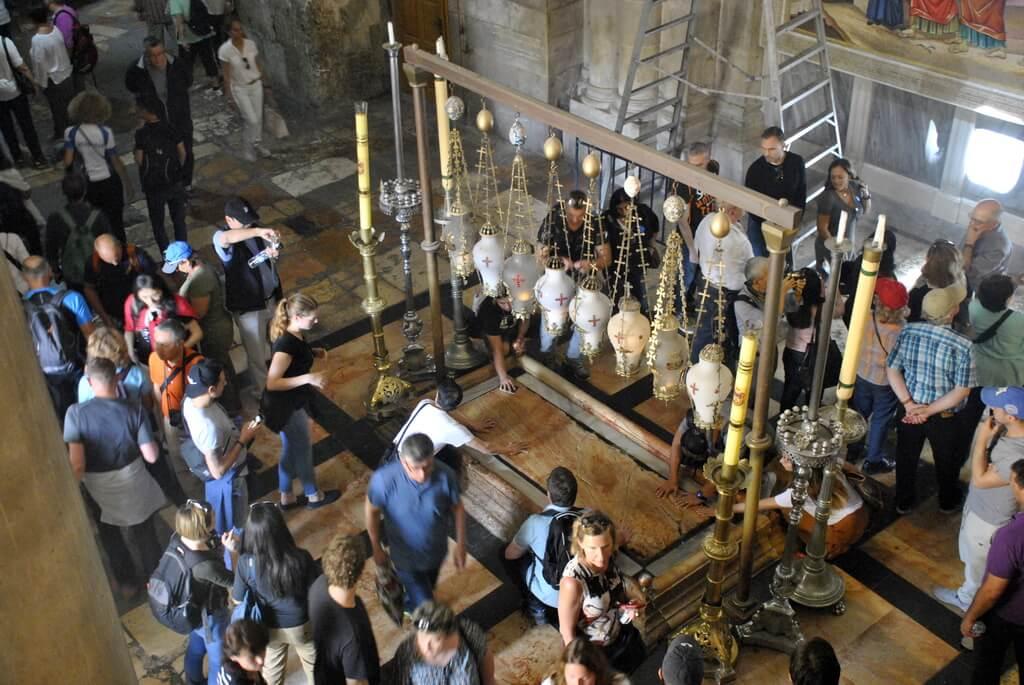 Piedra de la Unción. Iglesia del Santo Sepulcro