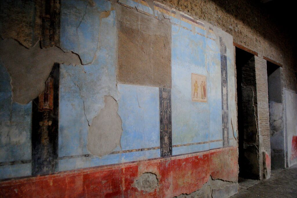 Frescos en el interior de la Casa de Quadretti Teatrali