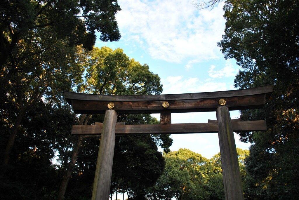 Torii de entrada al Santuario de Meiji