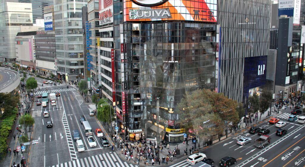 Cruce Sukiyabashi desde la Kiriko Lounge