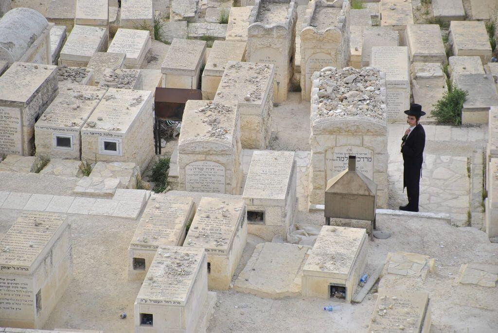 Cementerio judío en la colina del Monte de los Olivos