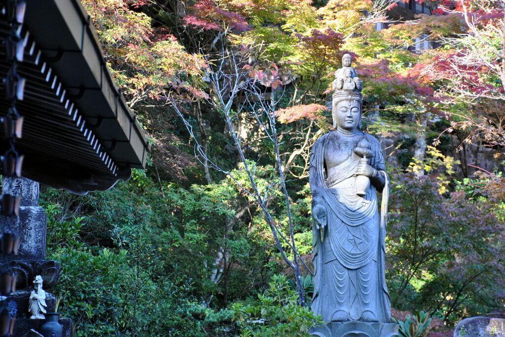 Diosa Kannon, diosa de la compasión. Interior del Templo Daisho-in