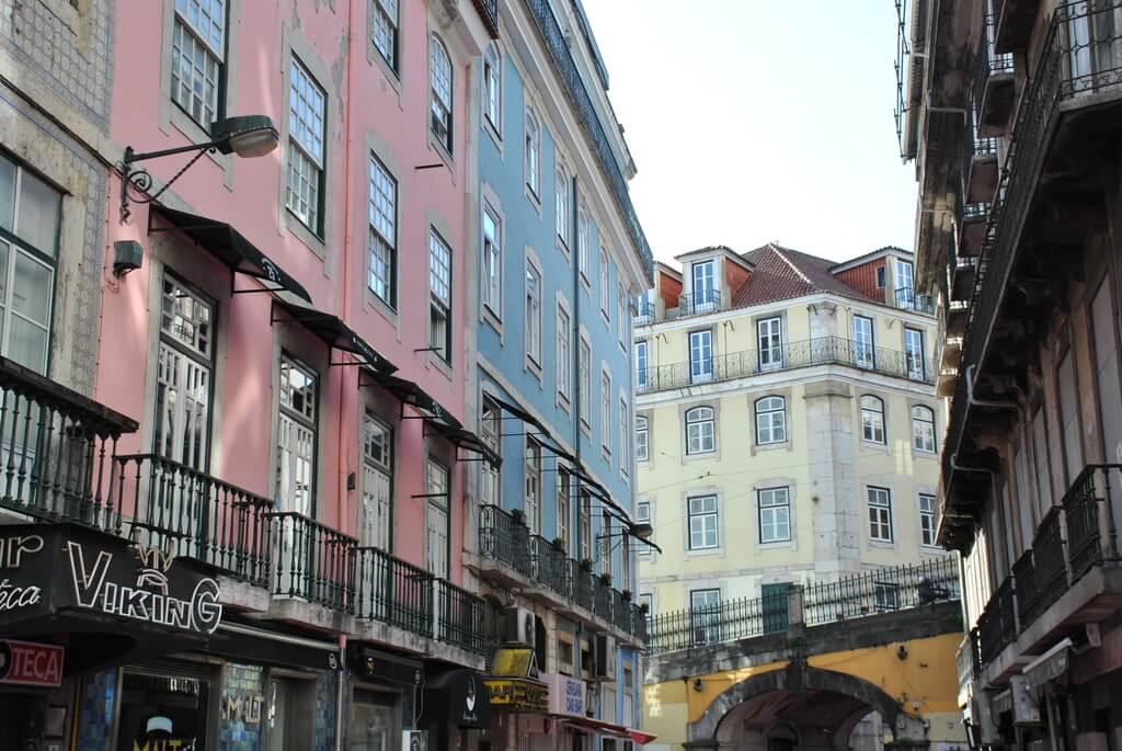 calle rosa de Lisboa