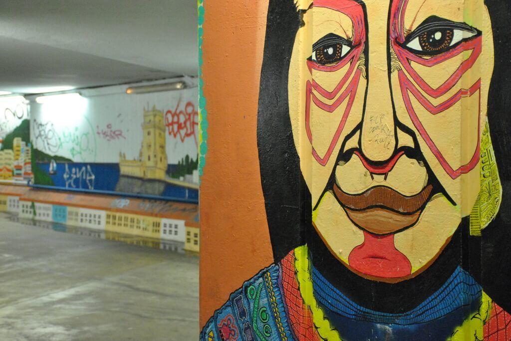 Mural en el Túnel de Alcántara