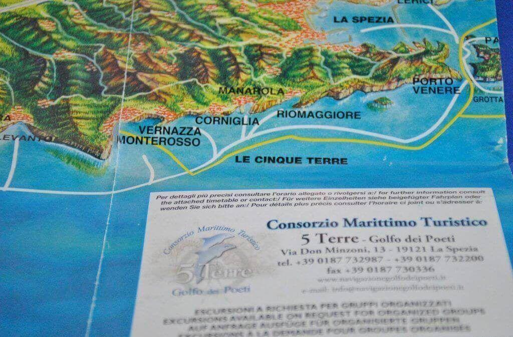Rutas marítimas entre La Spezia y los pueblos de Cinque Terre