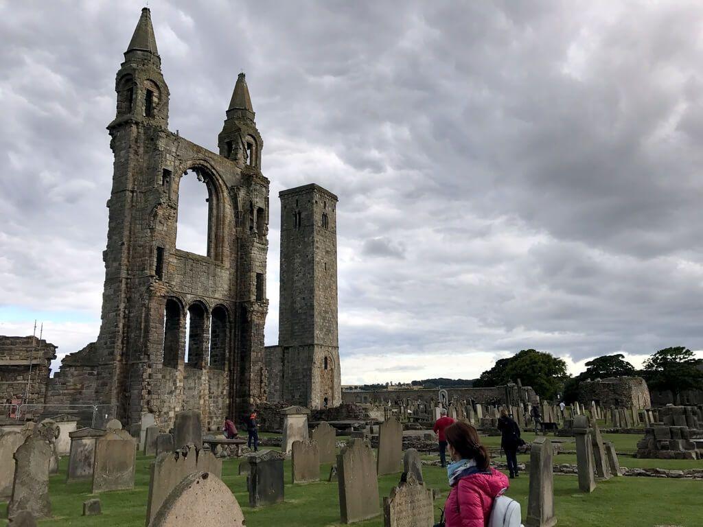 A los pies de la Catedral de St Andrews