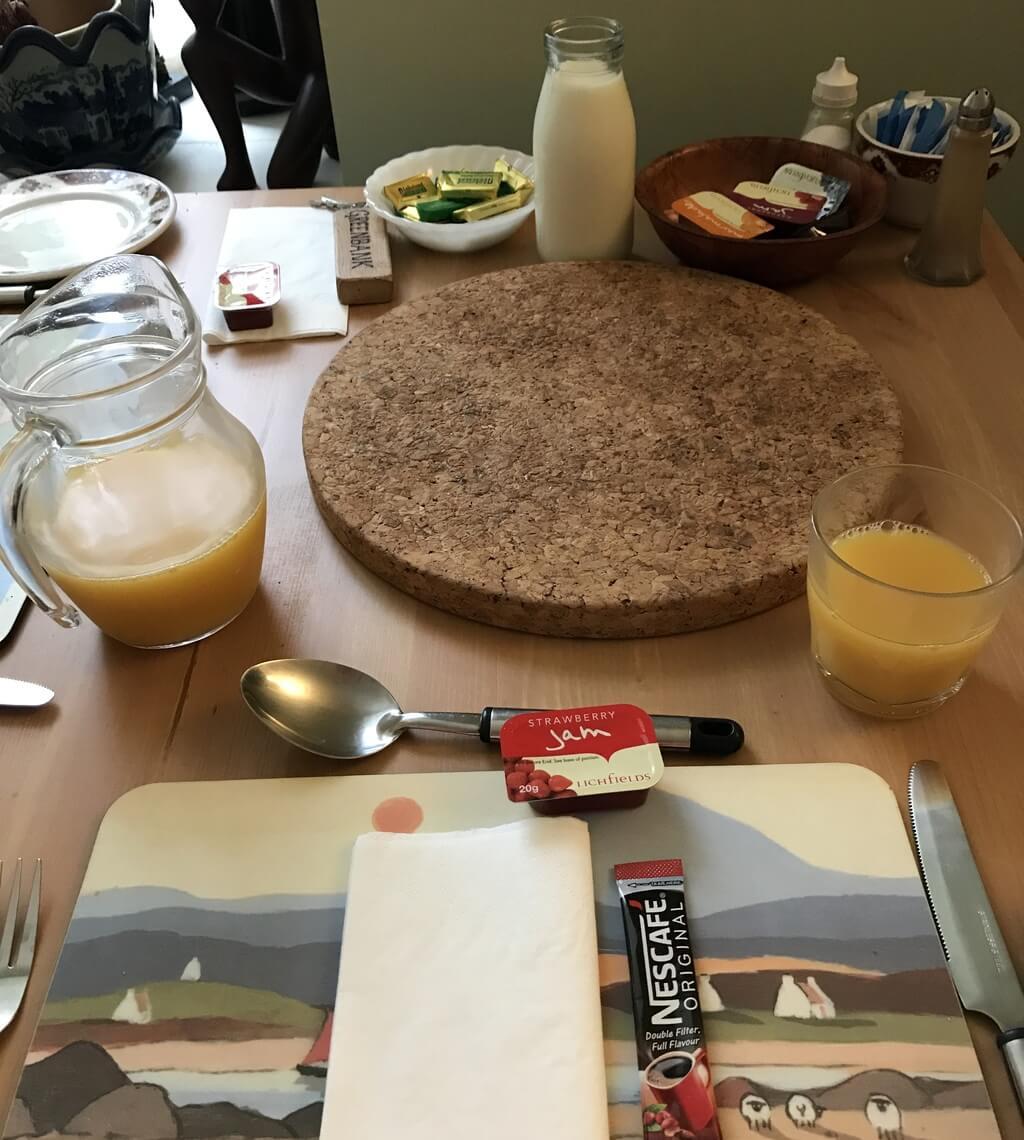 Esperando nuestro desayuno