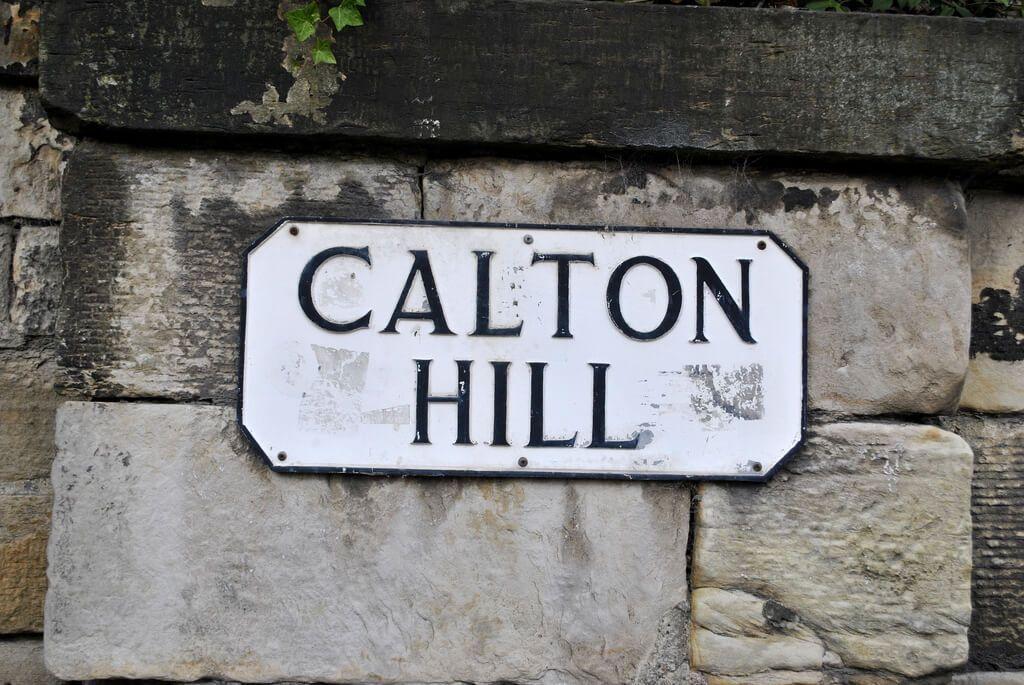 Cartel indicativo en Calton Hill