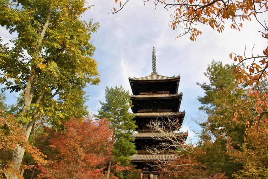 Pagoda de 5 pisos en el templo Ninna-Ji