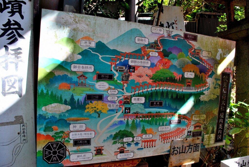 recorrido santuario fushimi inari taisha