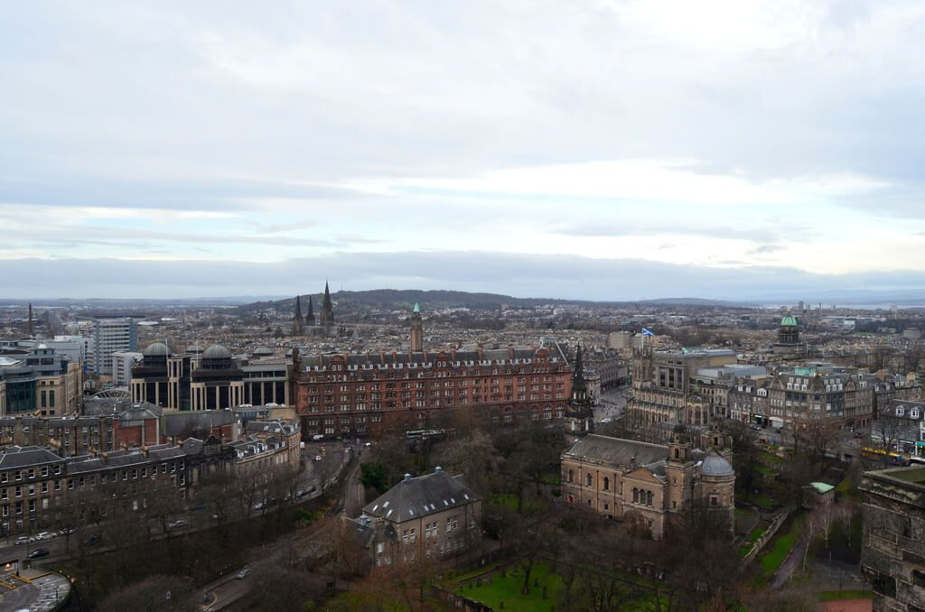 Vistas de Edimburgo desde el castillo