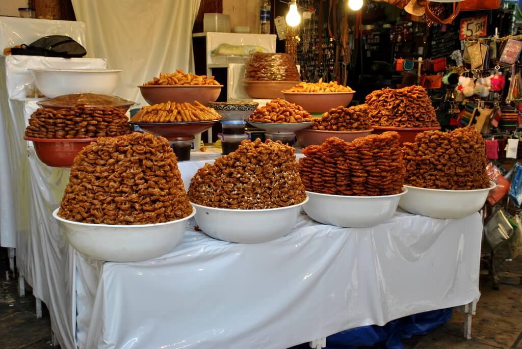 Puesto de dulces. Medina de Fez