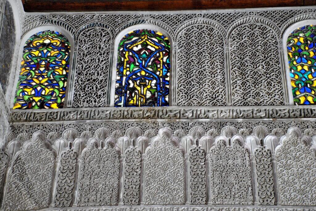 Detalle de la piedra tallada, Madrasa Attarine