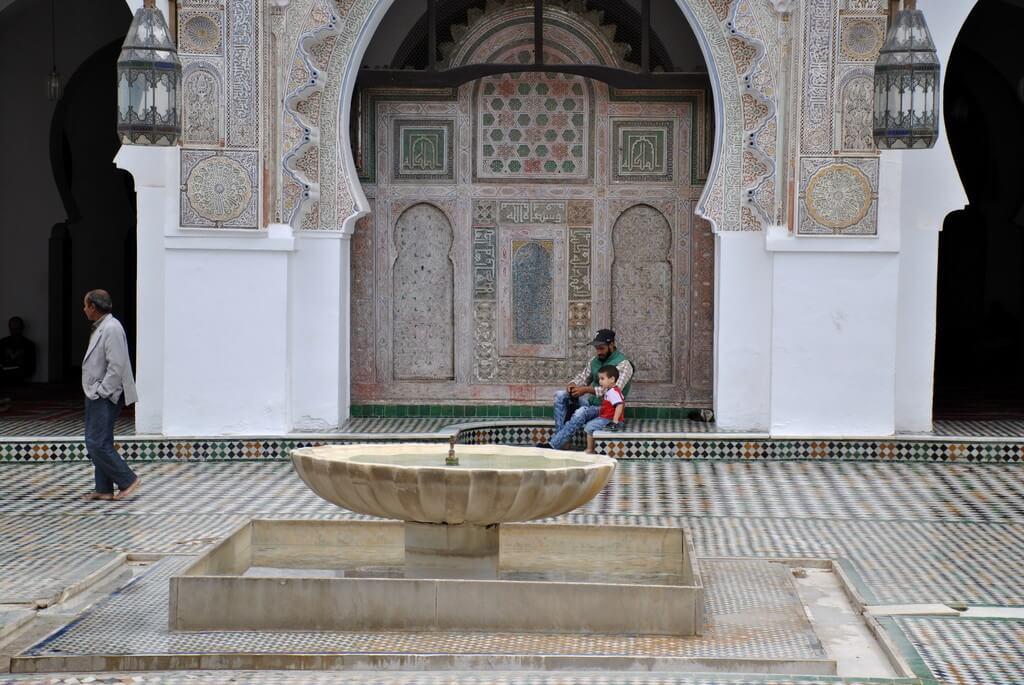 Patio interior de la Universidad Al-Quarawiyyin
