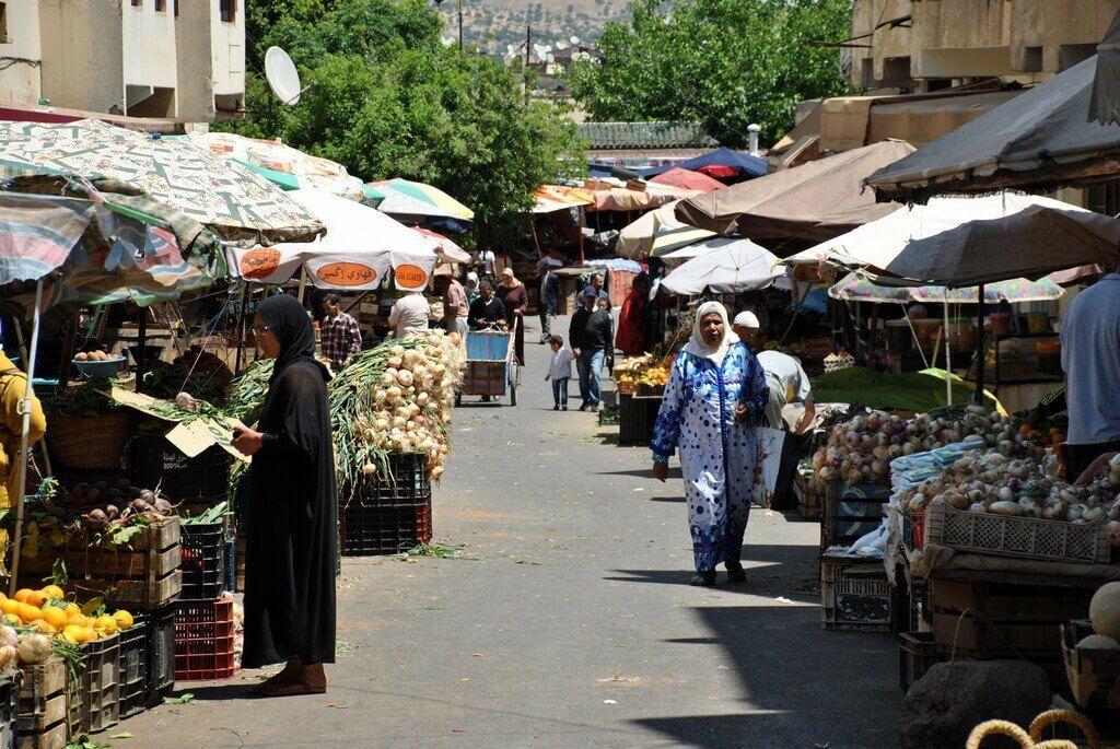 Mercado del barrio andalusí
