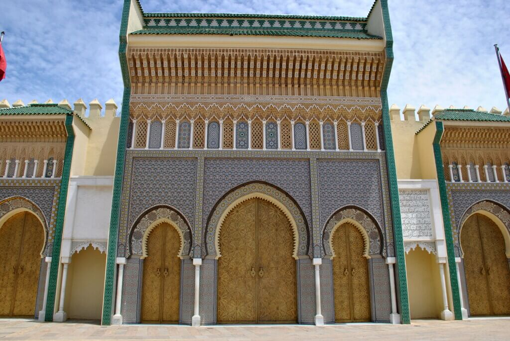 Fachada del Palacio Real de Fez