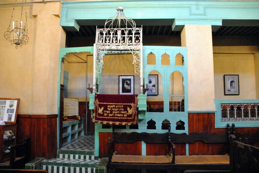 Interior de la Sinagoga Ibn Danan