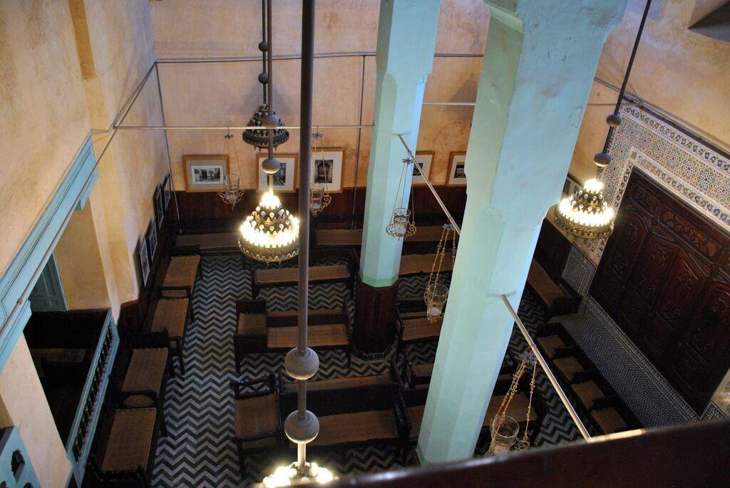 Interior de la sinagoga visto desde la planta superior