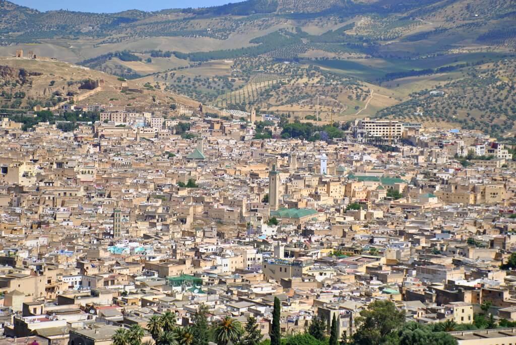 Vista panorámica de Fez desde el Borj Sud