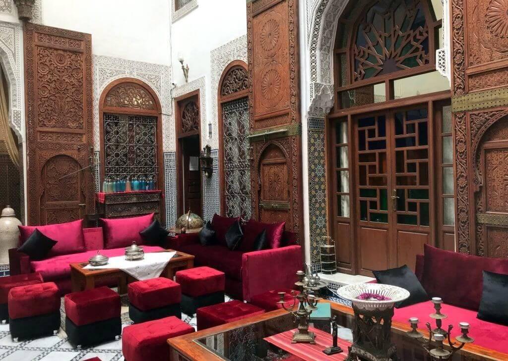 Lobby del Riad Damia