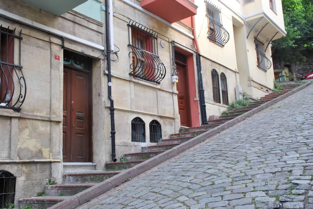 Calle inclinada de Balat