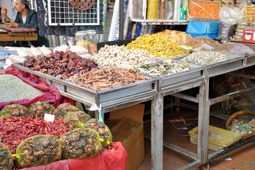 Puesto de especias, mellah de Meknes