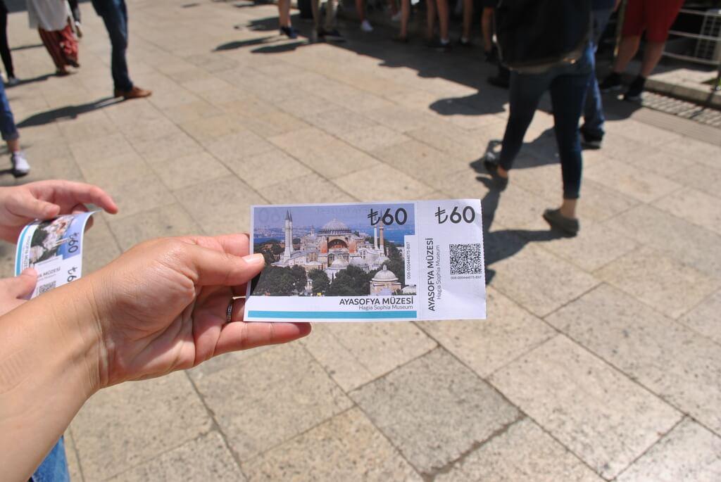 Ticket de entrada a Santa Sofia