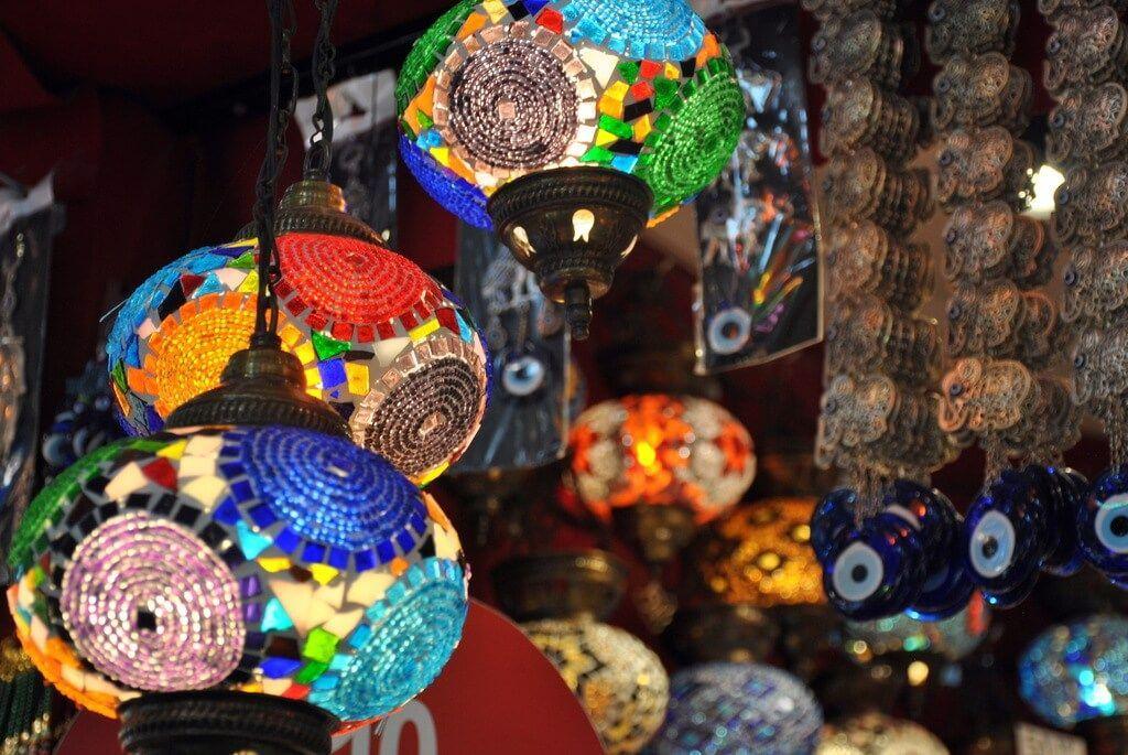 Tienda de lámparas en el Gran Bazar