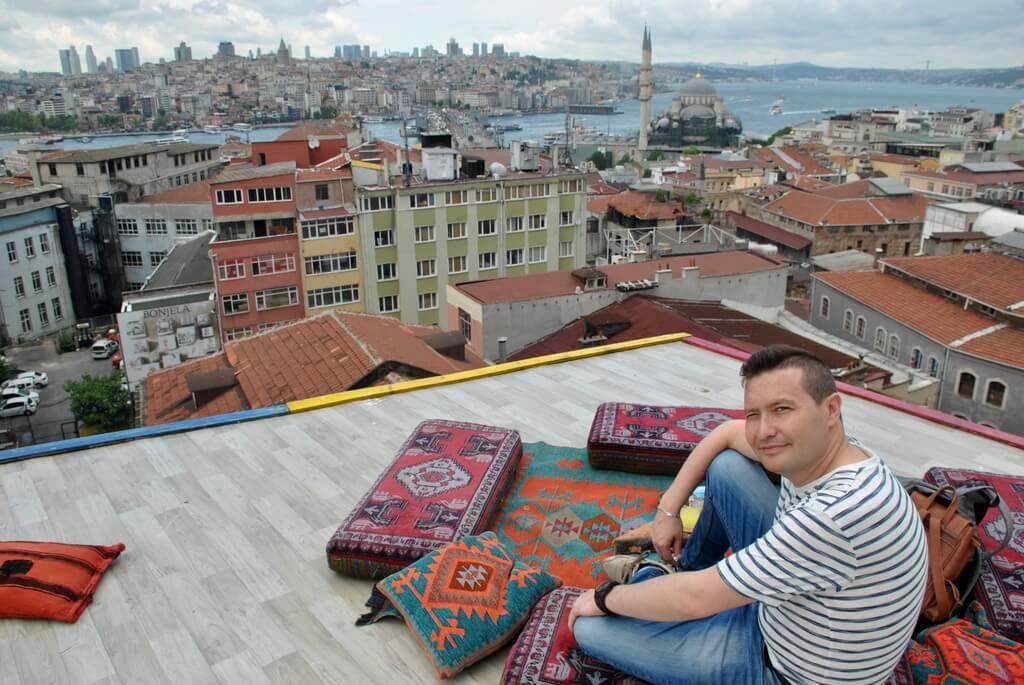Vistas de Estambul desde Büyuk Valide Han