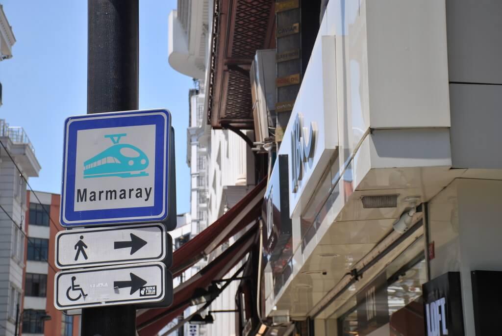 Indicaciones para llegar a la línea Marmaray