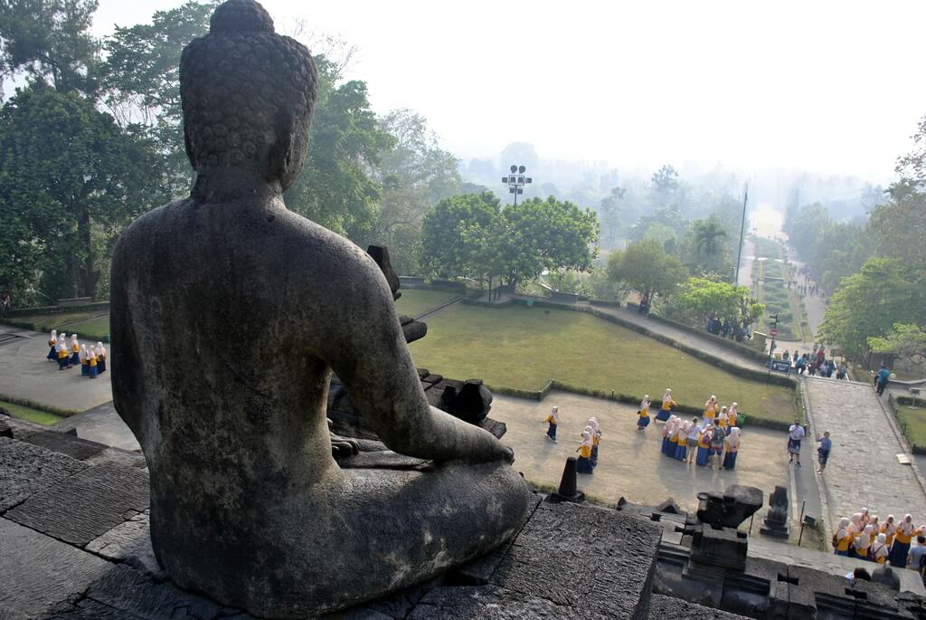 segundo nivel del Templo de Borobudur