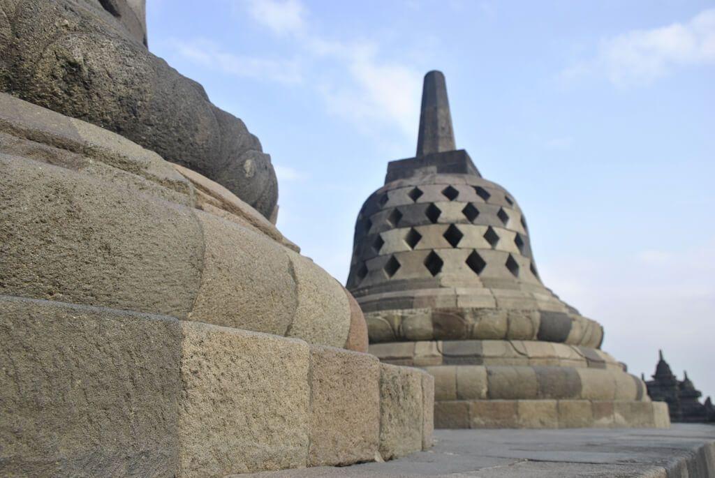 último nivel del Templo de borobudur