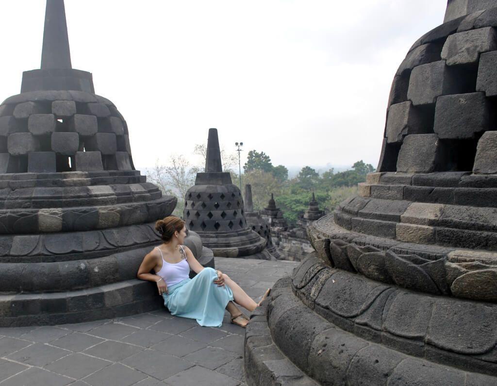 parte superior del Templo de Borobudur