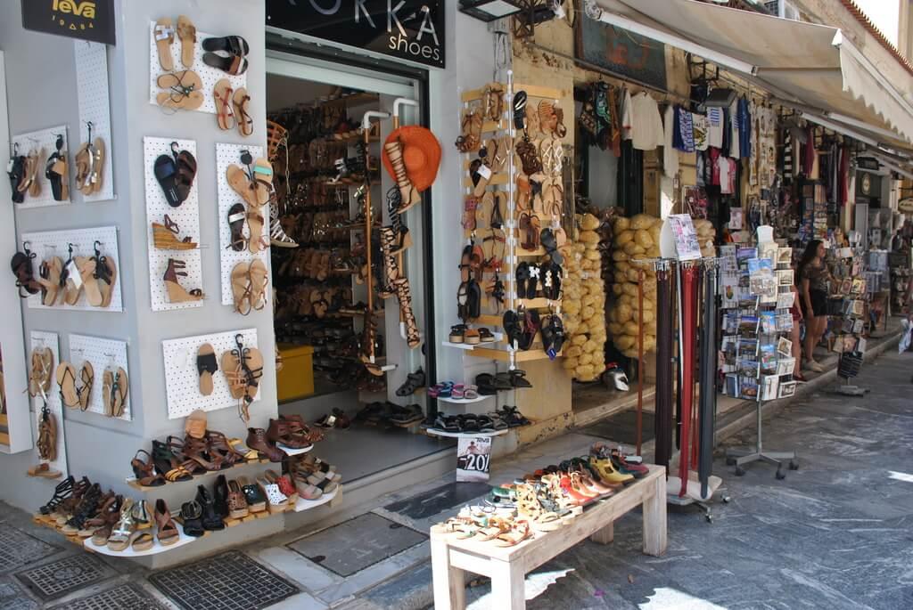 Una tienda en Plaka